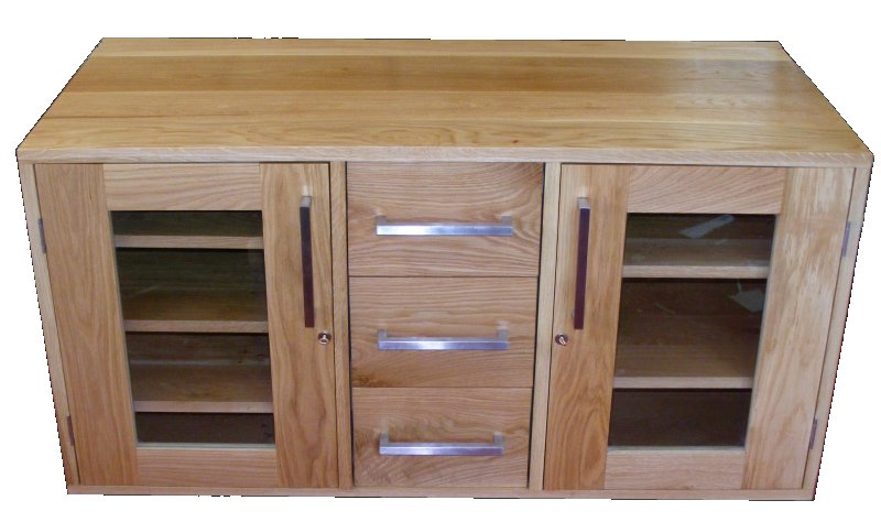 Handmade Solid Oak TV Cabinet